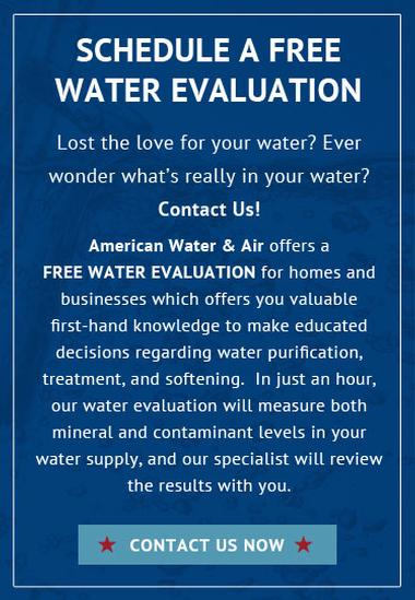 schedule a free water evaluation graphic